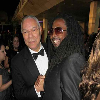 Recording Artist Allen Forrest Backstage with Colin Powell at the NAACP Awards in Los Angeles