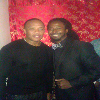 Recording Artist Allen Forrest Backstage with rapper Dr Dre
