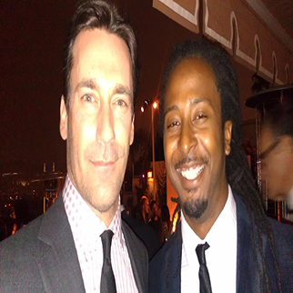 Recording Artist Allen Forrest with actor John Hamm Emmy Party