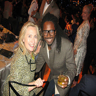 Recording Artist Allen Forrest with Hilary Clinton with President Clinton