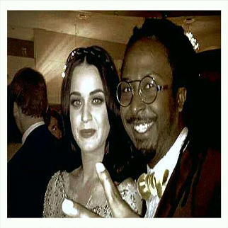 Recording Artist Allen Forrest with Katy Perry at the Trevor Event