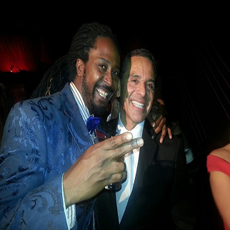 Recording Artist Allen Forrest with the mayor of los angeles Antonio Villaraigosa