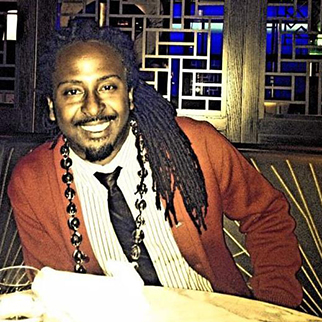 Recording Artist Allen Forrest dinner at hakkasan in beverly hills