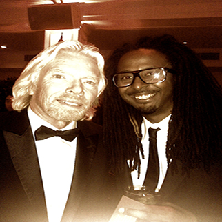 Recording Artist Allen Forrest with Richard Branson at rock the kasbah