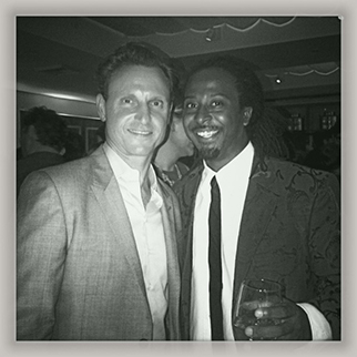 Recording Artist Allen Forrest hanging out with Tony Goldwyn at the ABC Emmy Party